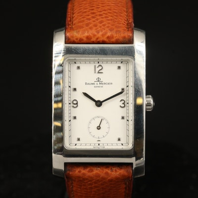 "Baume & Mercier ""Hampton"" Stainless Steel Quartz Wristwatch"