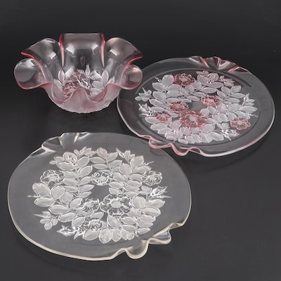 "Mikasa ""Rosella"" Canapé Plates and Bowl,  Late 20th Century"