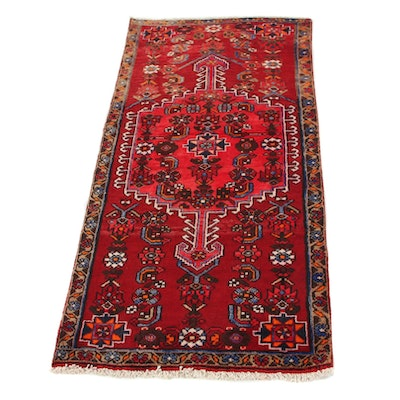 2'7 x 5'4 Hand-Knotted Persian Zanjan Area Rug, 1960s