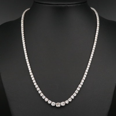 14K 10.91 CTW Diamond Rivière Necklace