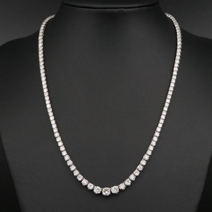 14K 10.91 CTW Diamond Rivière Necklace