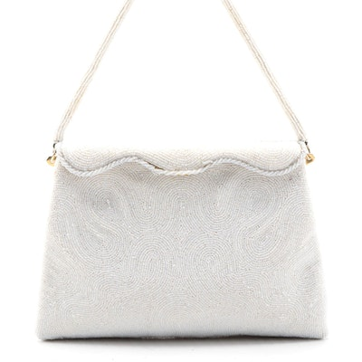 Benlux French Beaded Scalloped Flap Frame Purse