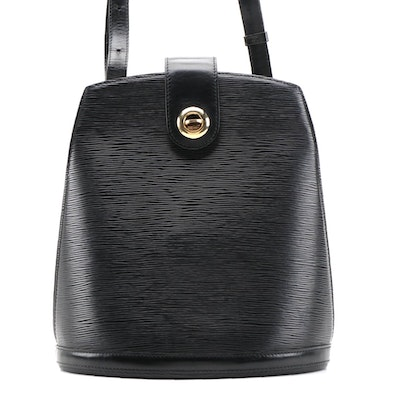 Louis Vuitton Cluny Shoulder Bag in Black Epi Leather