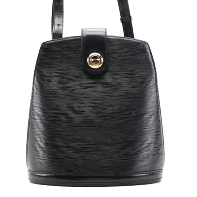 Louis Vuitton Cluny Shoulder Bag in Black Epi Leather