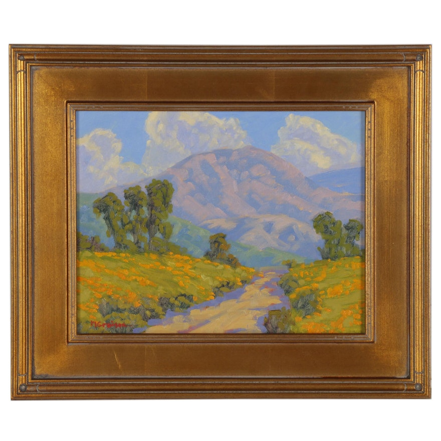 "Marc A. Graison Oil Painting ""Into the Hills,"" 2020"