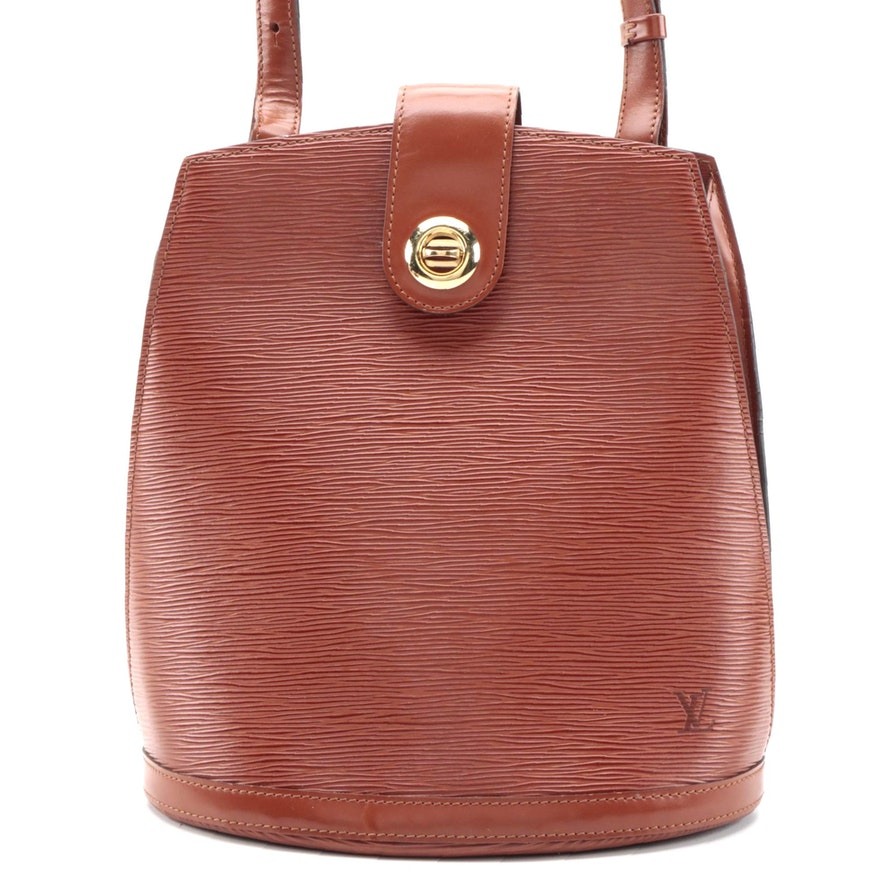 Louis Vuitton Cluny Shoulder Bag in Cipango Gold Epi Leather