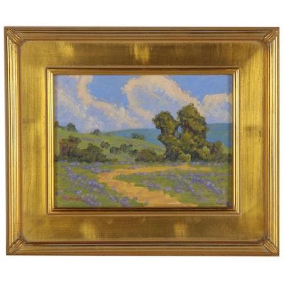 """Marc A. Graison Oil Painting """"Lavender Fields,"""" 2020"""