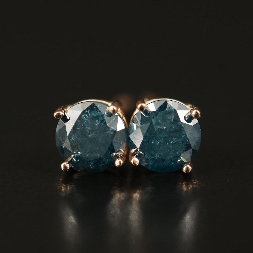14K 0.86 CTW Diamond Stud Earrings