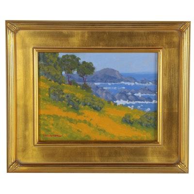"""Marc Graison Oil Painting """"Coastal Beauty,"""" 2020"""