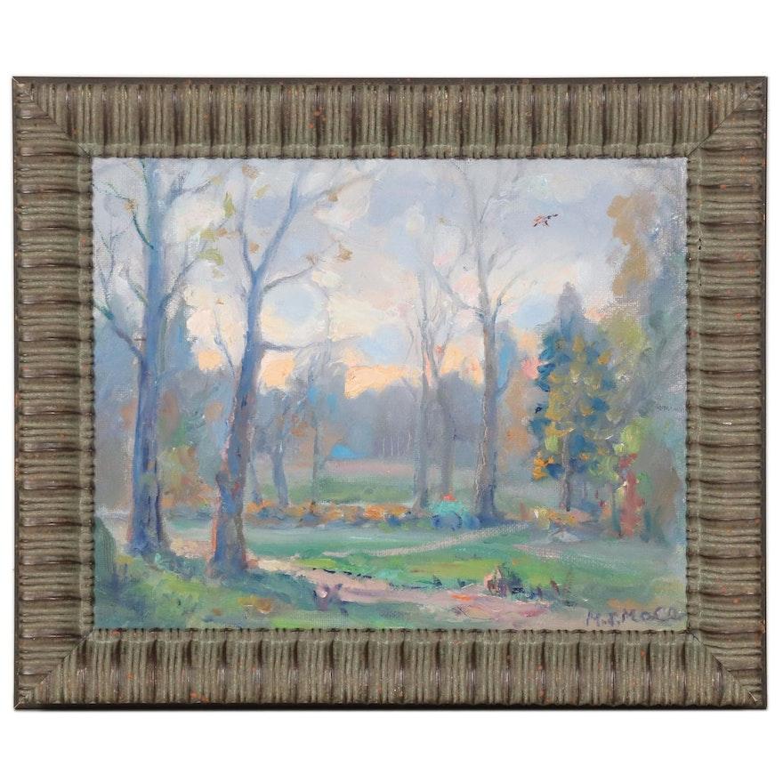 "Mark Mace Oil Painting ""November Sky"", 2020"