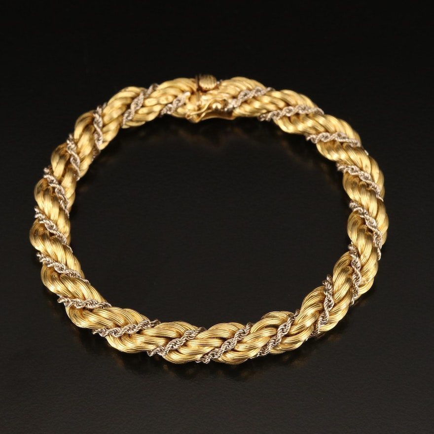18K Twisted Rope Style Bracelet