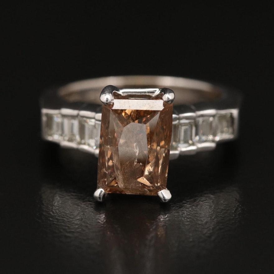 18K 4.89 CTW Diamond Ring