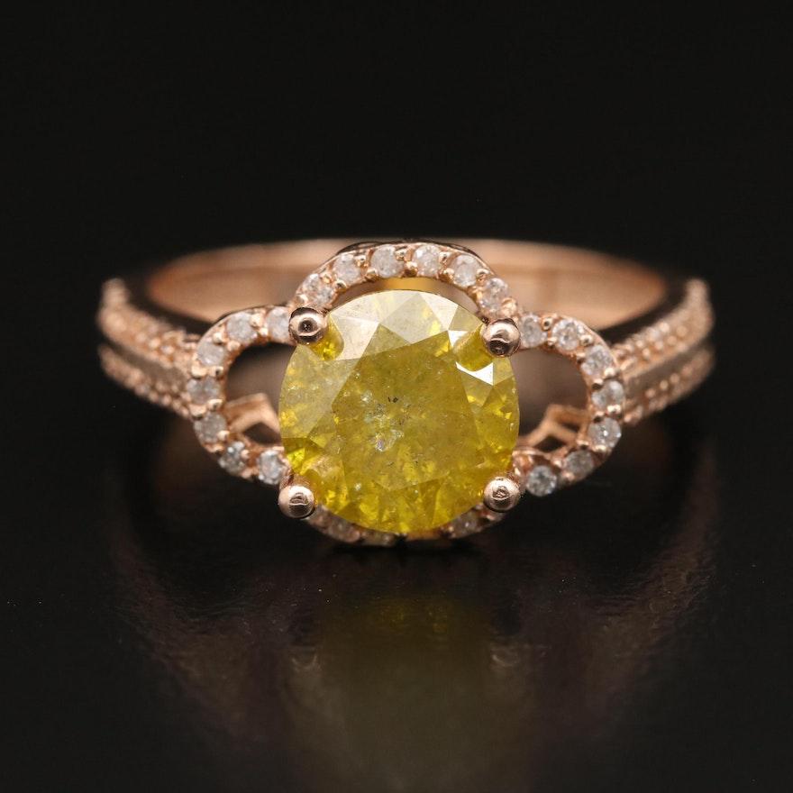 14K Rose Gold 2.57 CTW Diamond Ring
