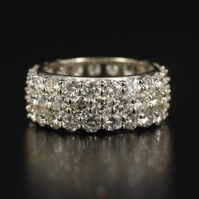 Platinum 6.13 CTW Diamond Triple Row Eternity Band