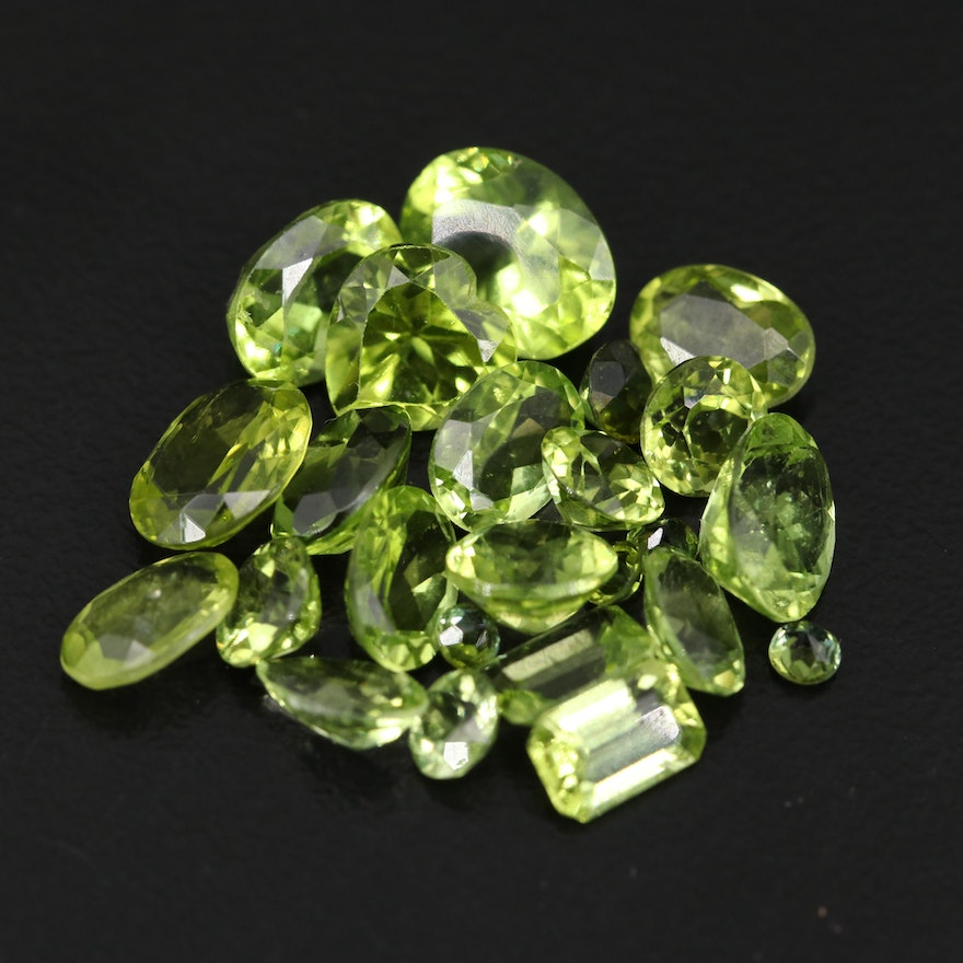 Loose 17.40 CTW Faceted Peridots