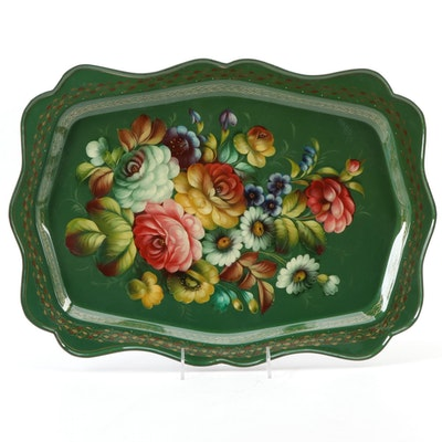 Russian Toleware Serving Tray, Late 20th Century, Mid to Late 20th Century