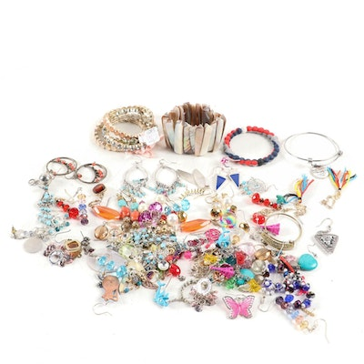 Costume Jewelry Including Some Religious Bracelets