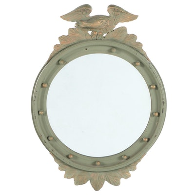 Hooker Glass Carved and Parcial Gilt Painted Wall Mirror, Early 20th Century