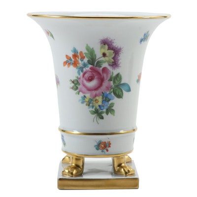 "Herend ""Printemps"" Porcelain Claw Footed Urn"