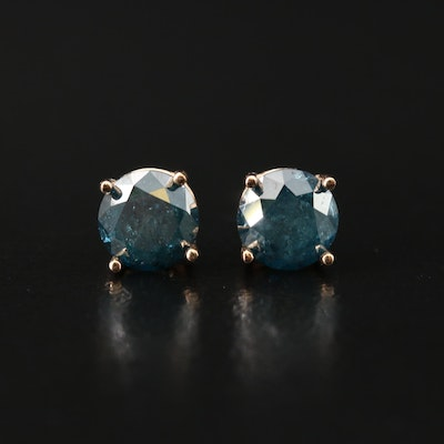 14K 1.04 CTW Diamond Stud Earrings