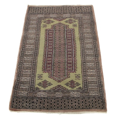 2'7 x 4'3 Hand-Knotted Pakistani Turkmen Accent Rug, 1990s