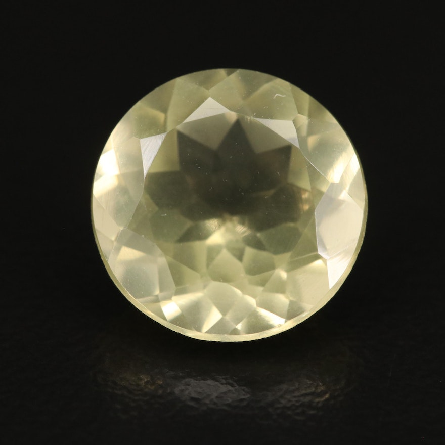 Loose 5.70 CT Round Faceted Citrine