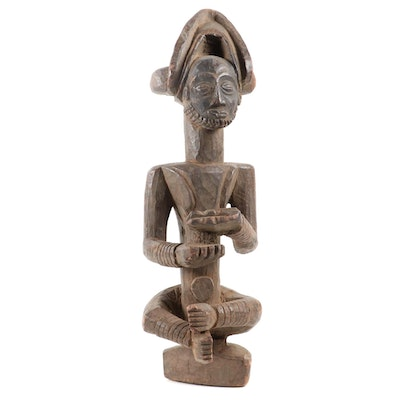 Chokwe Style Wooden Ancestor Figure, Central Africa