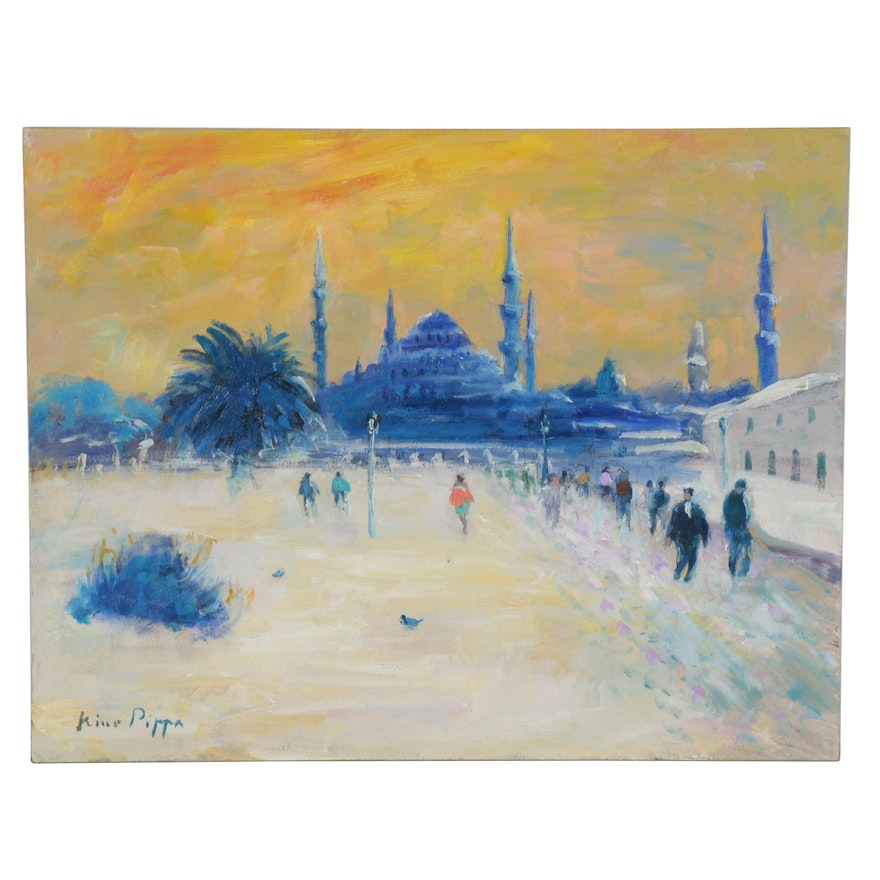 Nino Pippa Oil Painting of Istanbul, 2014
