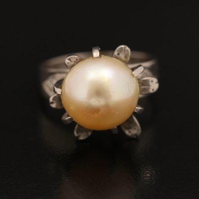 1940s 10K Pearl Ring