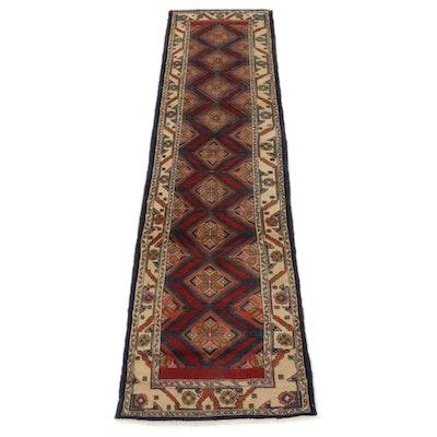 2'8 x 10'7 Hand-Knotted Persian Hamadan Carpet Runner