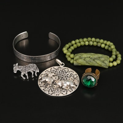 Rejoneador Pendant, Donkey Brooch, Soapstone Bracelet and More
