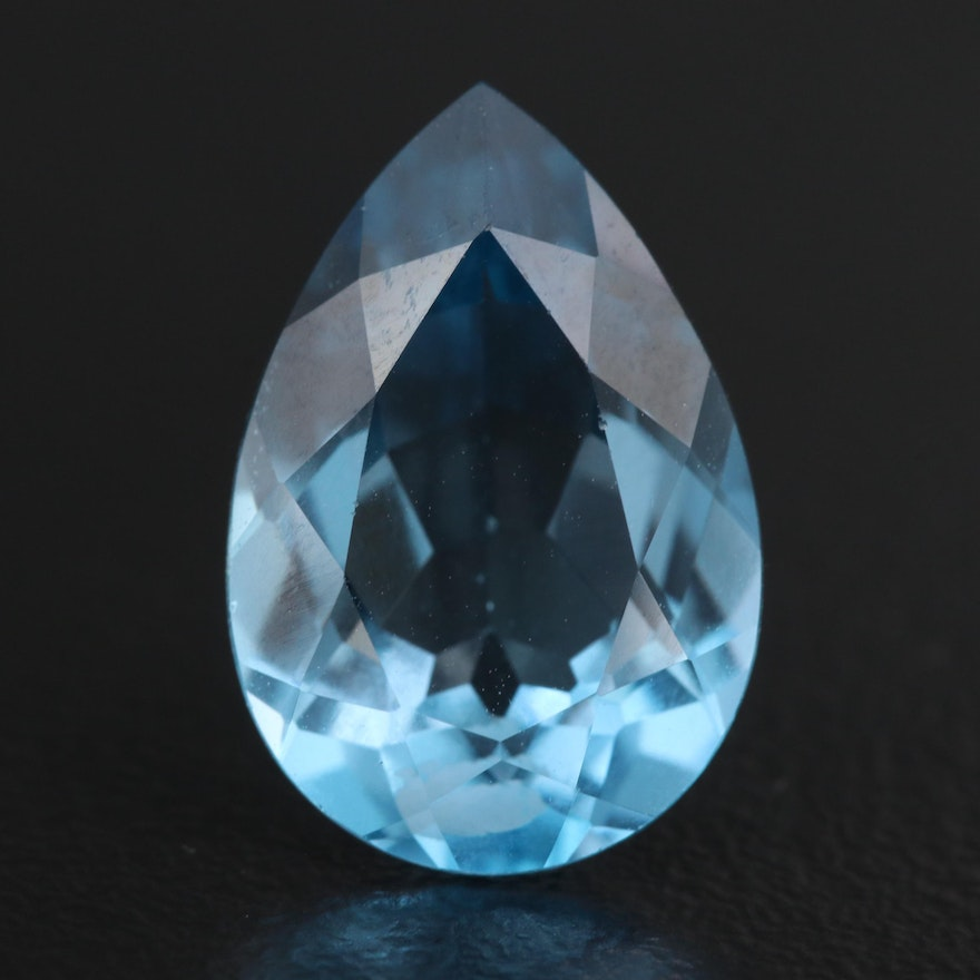 Loose 7.03 CT Pear Faceted Topaz
