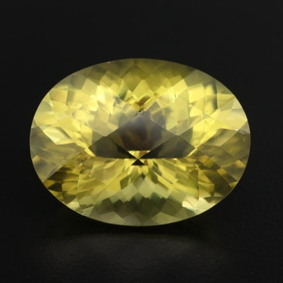 Loose 32.97 CT Oval Faceted Citrine