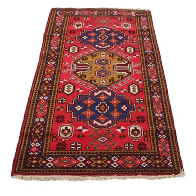 3'4 x 6'3 Hand-Knotted Caucasian Kazak Area Rug