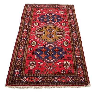 3'4 x 6'3 Hand-Knotted Caucasian Kazak Area Rug