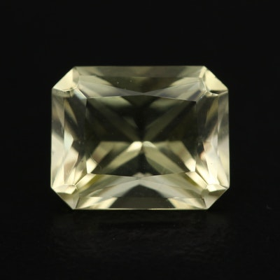 Loose 2.94 CT Rectangular Faceted Citrine