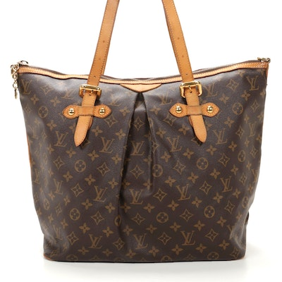 Louis Vuitton Palermo GM in Monogram Canvas and Vachetta Leather