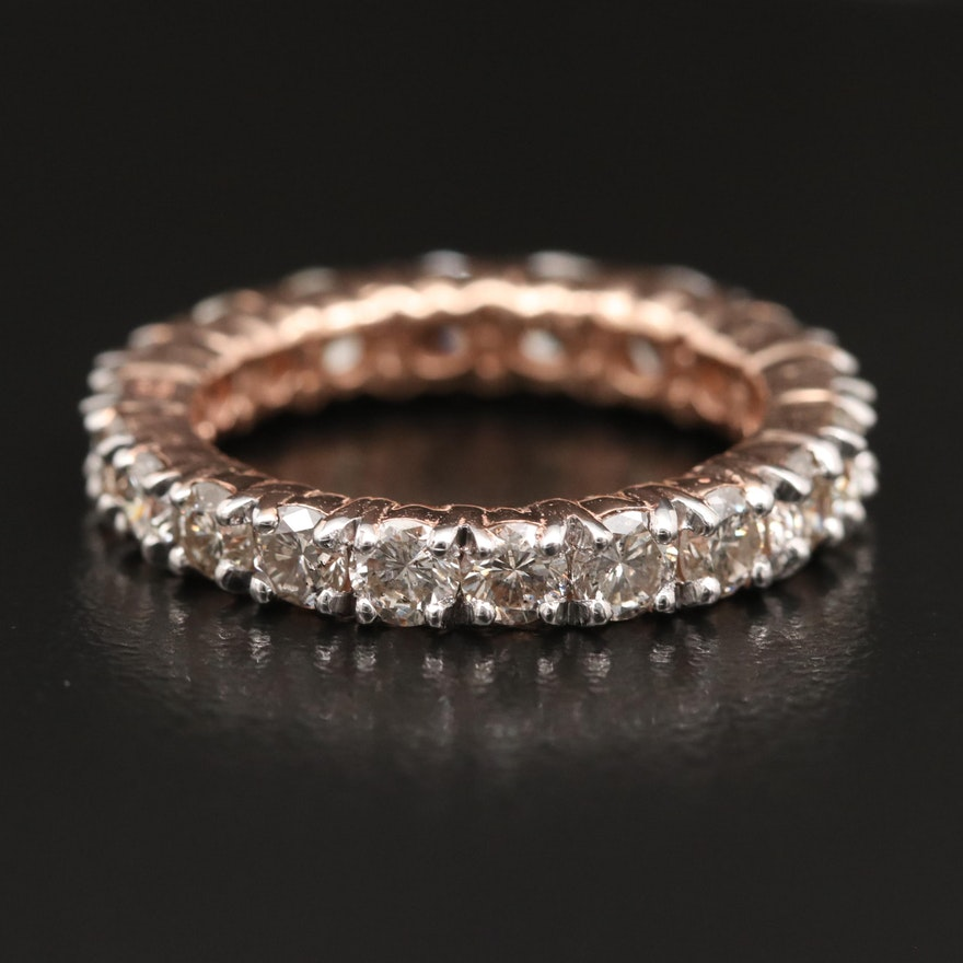 14K 3.52 CTW Diamond Eternity Band