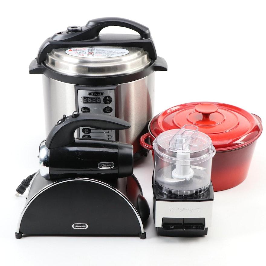 Le Creuset Dutch Oven, Bella, Sunbeam and Cuisinart Kitchen Appliances