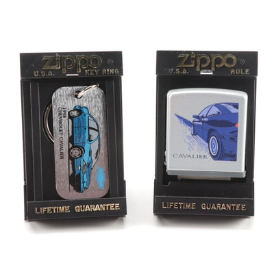 Zippo Spec Samples Keychain and Measuring Tape Endorsing the 1998 Cavalier