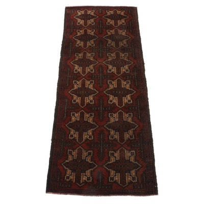 2'7 x 6'3 Hand-Knotted Afghan Baluch Area Rug