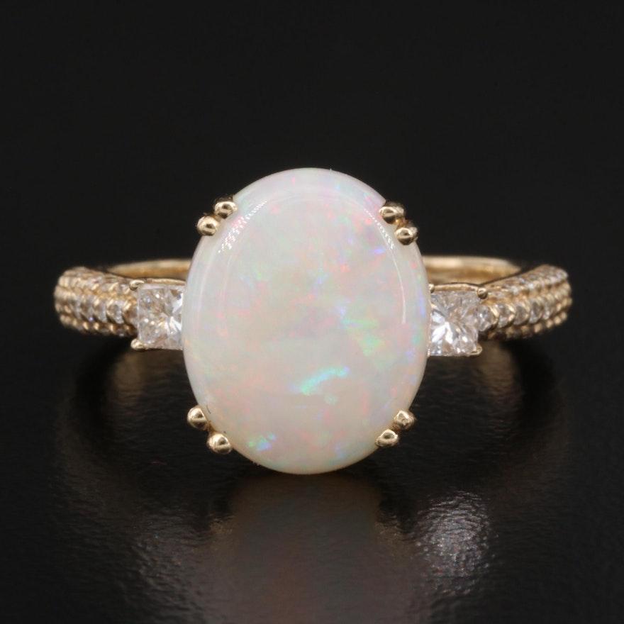 EFFY 14K Opal and Diamond Ring