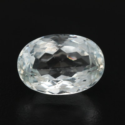 Loose 12.20 CT Oval Faceted Aquamarine