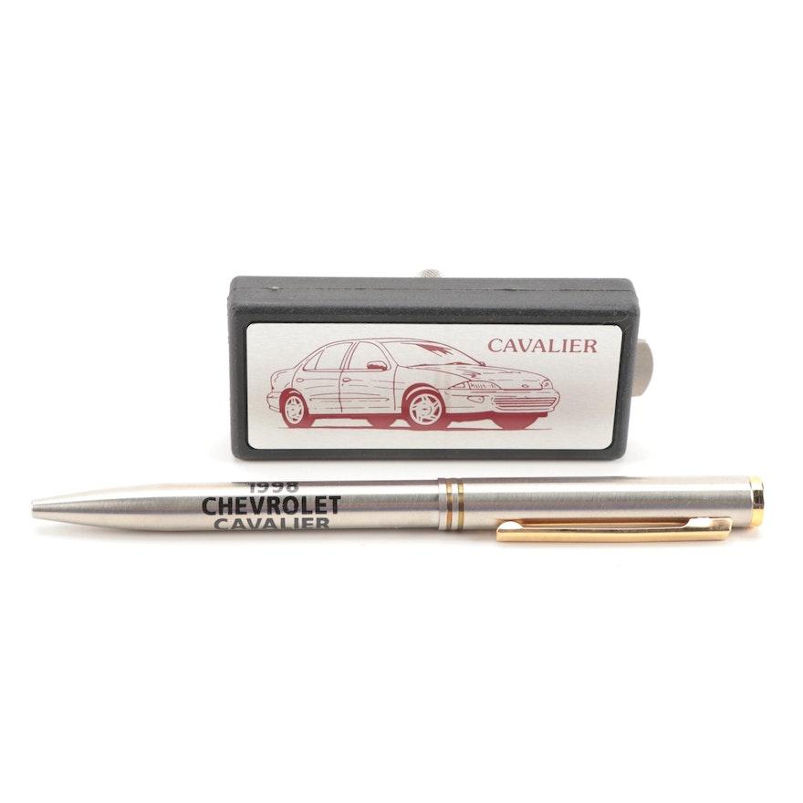 Zippo Salesman Sample Chevrolet Cavalier Pen and Multitool