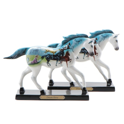 "Pair of The Trail of Painted Ponies ""Dream Horse"" Hand-Painted Figurines"