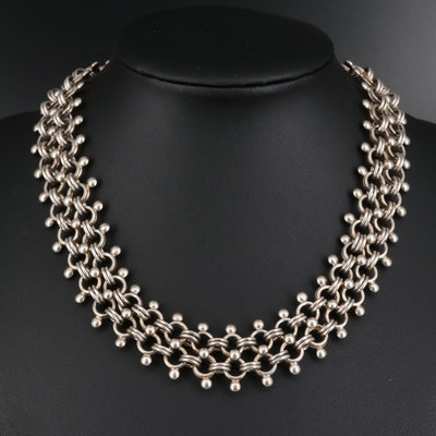 Mexican Style Sterling Silver Choker