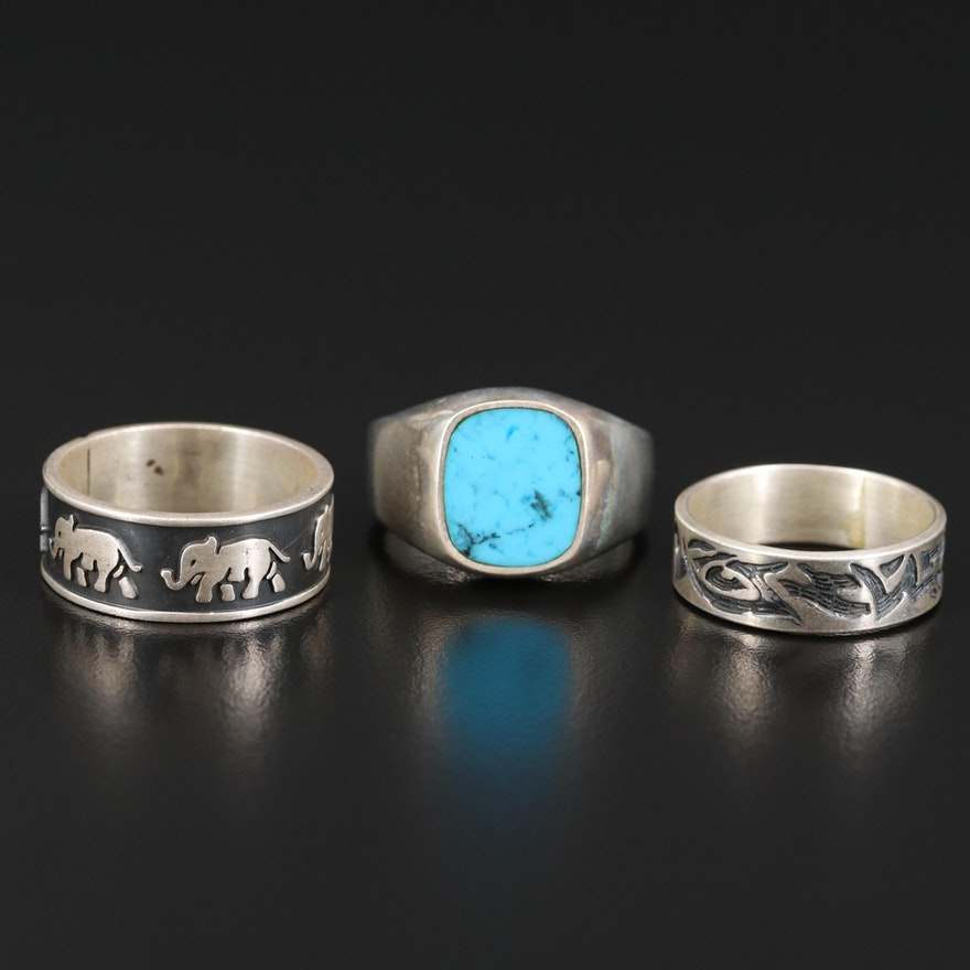 Sterling Silver Ring and Bands