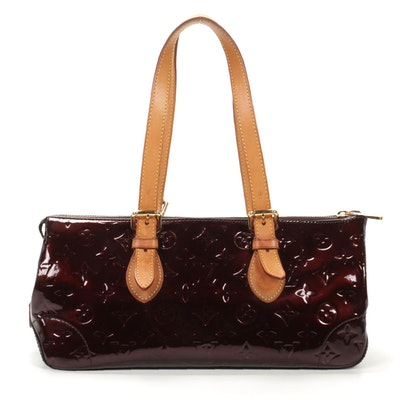 Louis Vuitton Rosewood Bag in Amarante Monogram Vernis