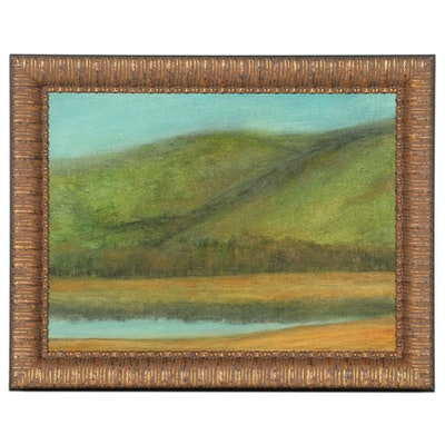 """Brian J. Hannon Oil Painting """"Plymouth NH Pemi River,"""" 2020"""