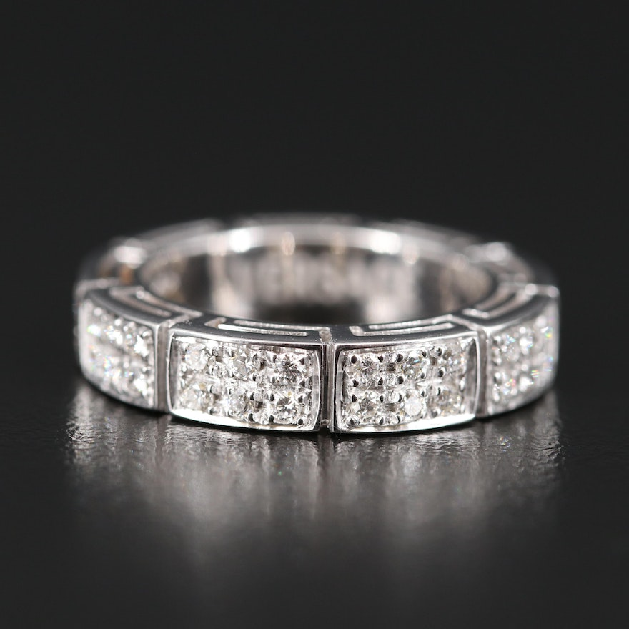 Versace 18K Diamond Eternity Band